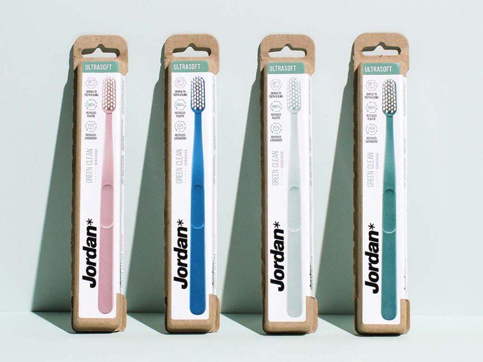 Jordan Green Clean ultrasoft bristles